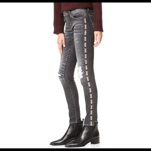 Driftwood Marilyn Black Tribal Embroidered Jeans